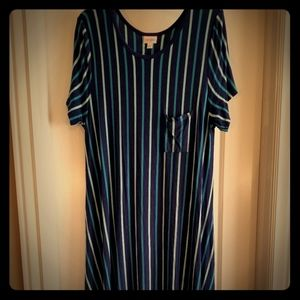 Lularoe stripe Carly dress